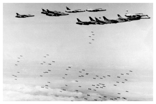 US planes bombing Vietnam