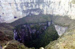 Xiaozhai Tiankeng, the largest sinkhole in the world.
