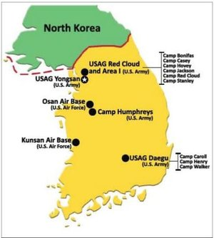 US bases in South Korea