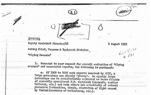 CIA UFO Document