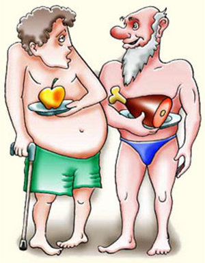apple diet vs meat diet