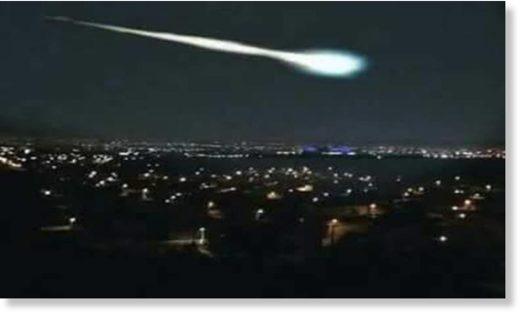 The giant fireball exploded in the sky of Puebla, Mexico in loud sonic boom.