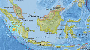Sumatra map earthquake