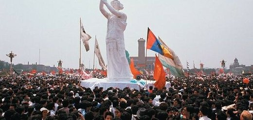 Statue of Liberty replica at Tiananmen Square 1989