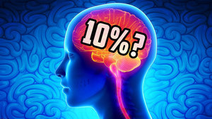 Can humans live with 10% brain?