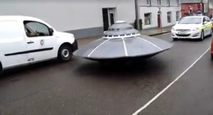 UFO on the road in Ireland