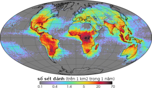 Figure 140: Global lightning frequency