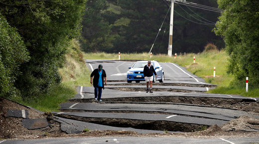 Earthquake damage in New Zealand
