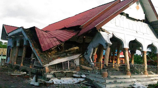 6.5-magnitude earthquake struck the town of Pidie, Indonesia's Aceh province