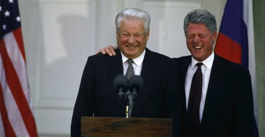 Yeltsin Clinton