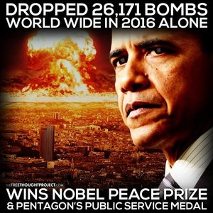 Obama nobel bombs