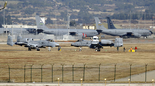 Incirlik airbase in the southern city of Adana, Turkey