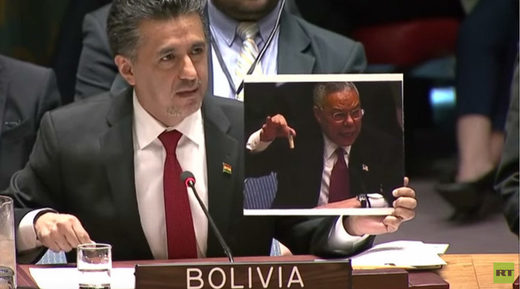 Bolivia United Nations Colin Powell