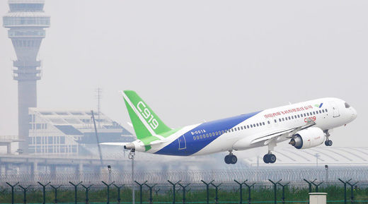 Chinese COMAC C919 airplane