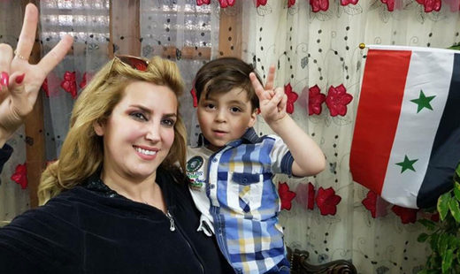 Omran with Syria journalist