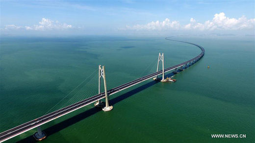 Longest Sea bridge connecting Hongkong, Macao