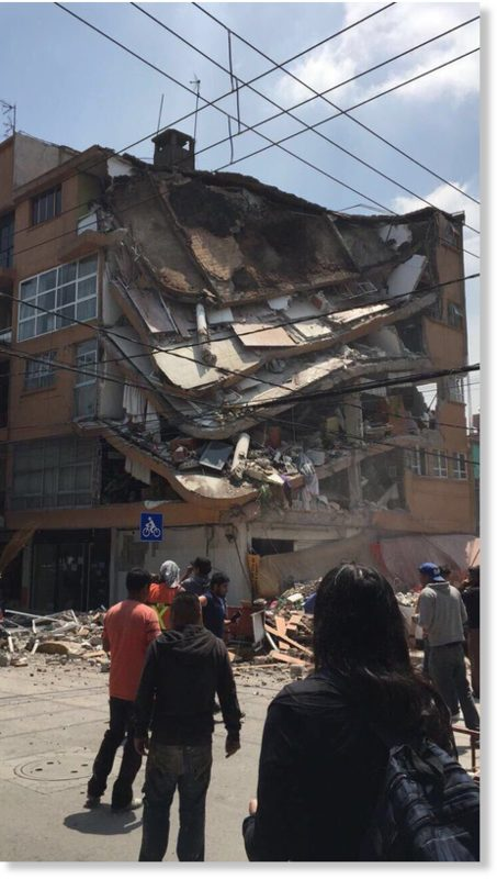 Mexico City earthquake 19 Sept 2017 DAMAGE