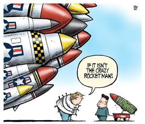 rocket man cartoon
