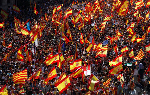 pro-union demonstration in Catalonia Oct 8th 2017