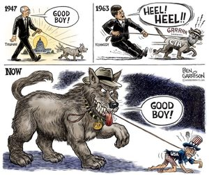 CIA dog cartoon