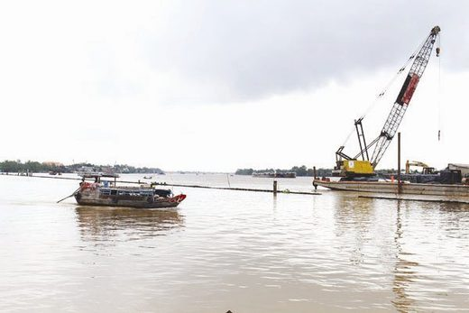 River reclaimation project in Vietnam