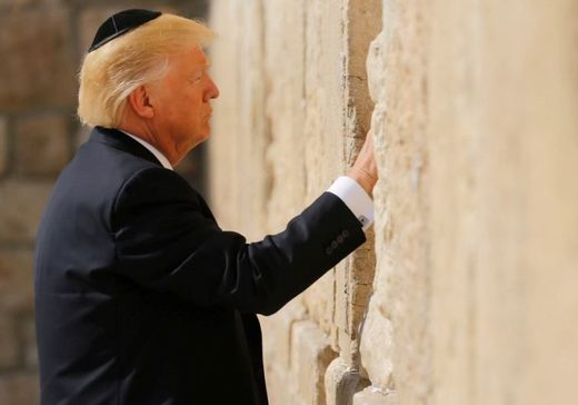 President Trump at Wailing Wall in Jerusalem