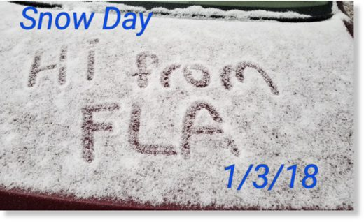 Snow in Tallahassee, Florida