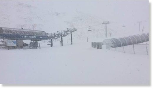 The Remarkables ski field in Queenstown had on average 50cm of snow on Wednesday morning.