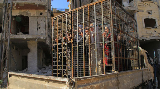Syrian civilians in cages
