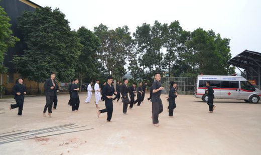 doctors training martial arts in Vietnam