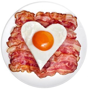 Bacon egg love