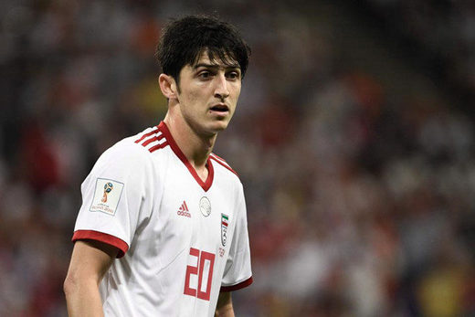 Sardar Azmoun, famous Iranian football player