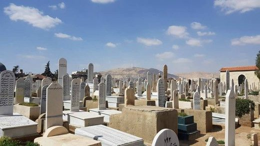 Cementery in Damascus Syria