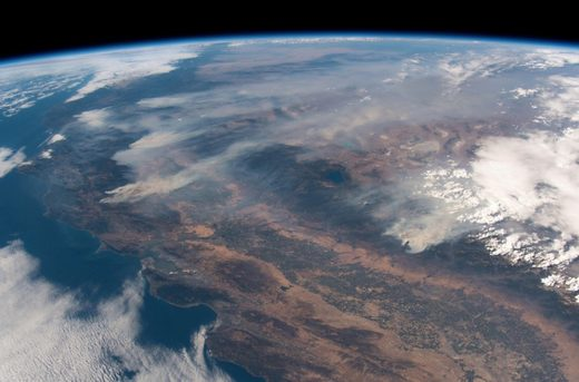 California wildfires 2018 ISS