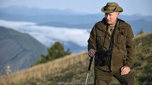 putin on holiday