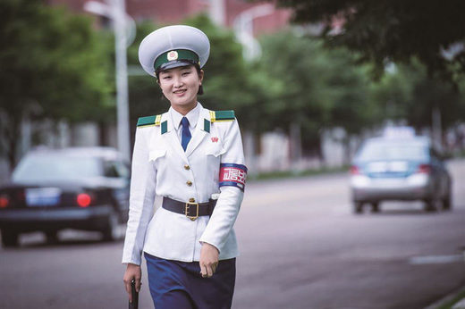 North Korean policewoman