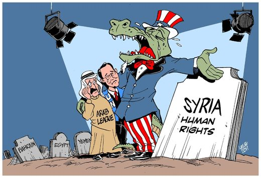 American crocodile tears in Syria