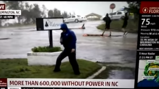 weather channel fake news hurricane florence