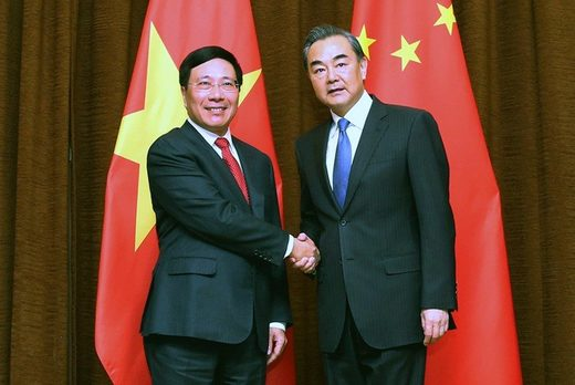 Vietnam and China Foreign ministers