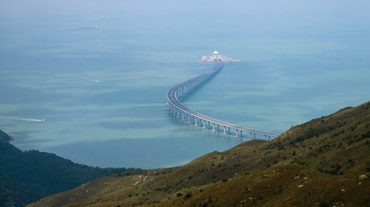 World's longest sea Bridge connecting Hong Kong and Ma Cao