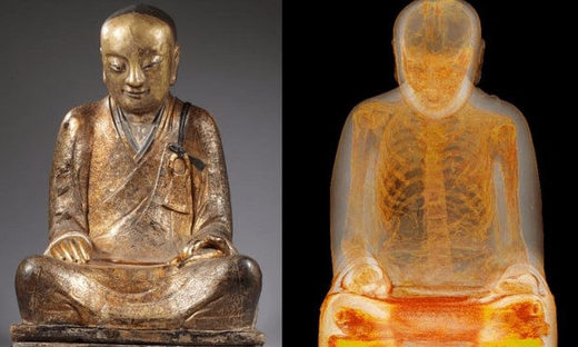Mummified buddha statue from China