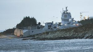 norwegian ship sinks nato
