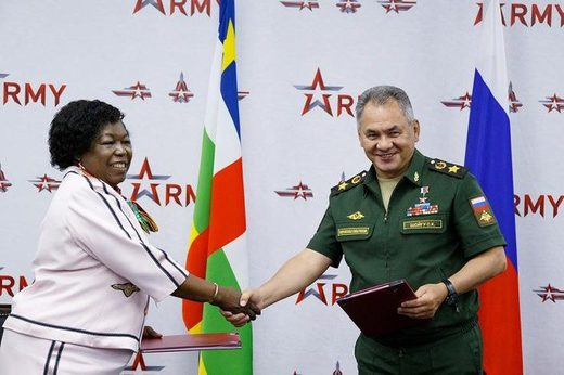 Ministers of defense russia and central african republic