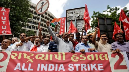 India strike protest Jan 8th 2019