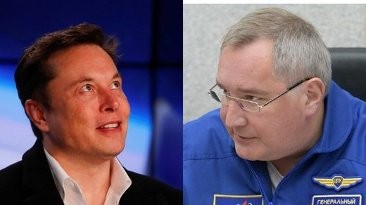 elon musk, Roscosmos chief Dmitry Rogozin