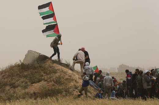 palestine flags march of return