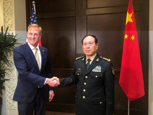 US Sec Defense and Chinese Minister of Defence at Shangri-La 2019