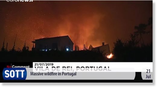 wildfires portugal