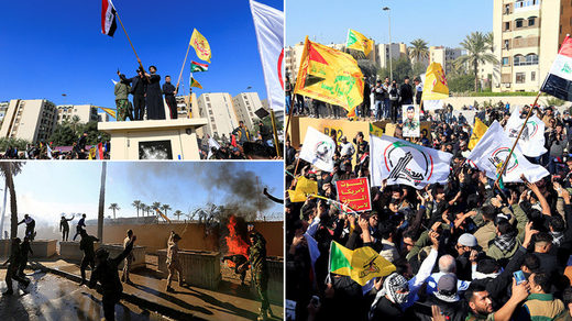 baghdad embassy protests